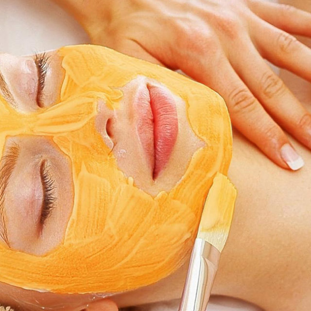 Organic pumpking peel for facial cleanse