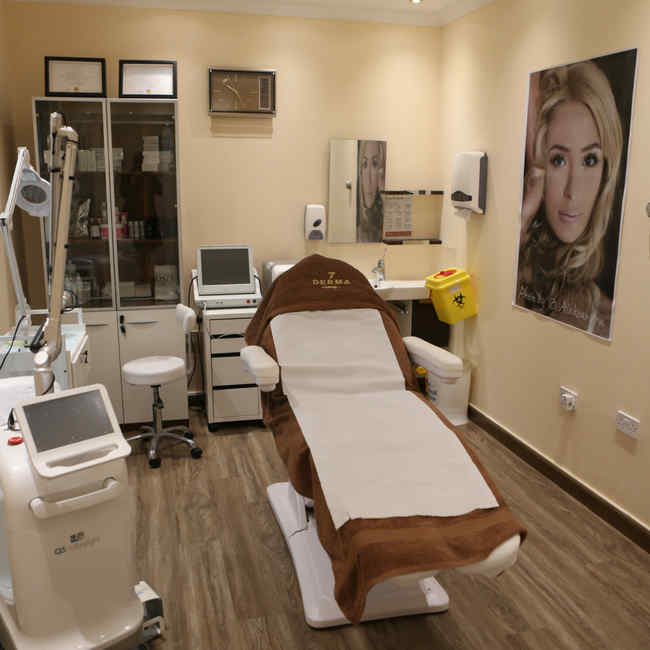 7 Derma Clinic and its room for laser hair removal