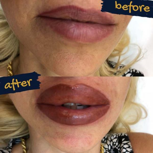 Semi permanent makeup for lips