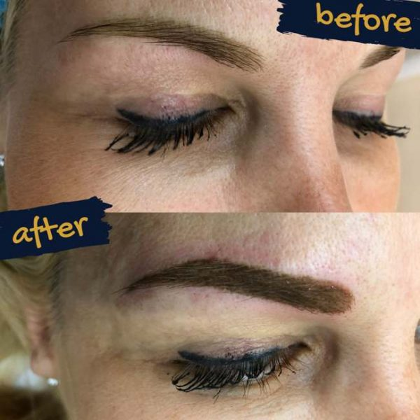 Semi-permament makeup on brows by Olga Lelekova at 7 Derma